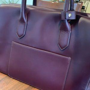 J Crew Harper Satchel in Italian Leather NWT